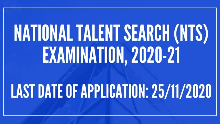NATIONAL TALENT SEARCH (NTS) EXAMINATION, 2020-21